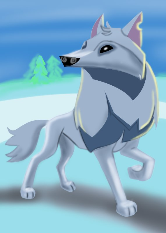 570x800 Learn How To Draw Arctic Wolf From Animal Jam (Animal Jam) Step By