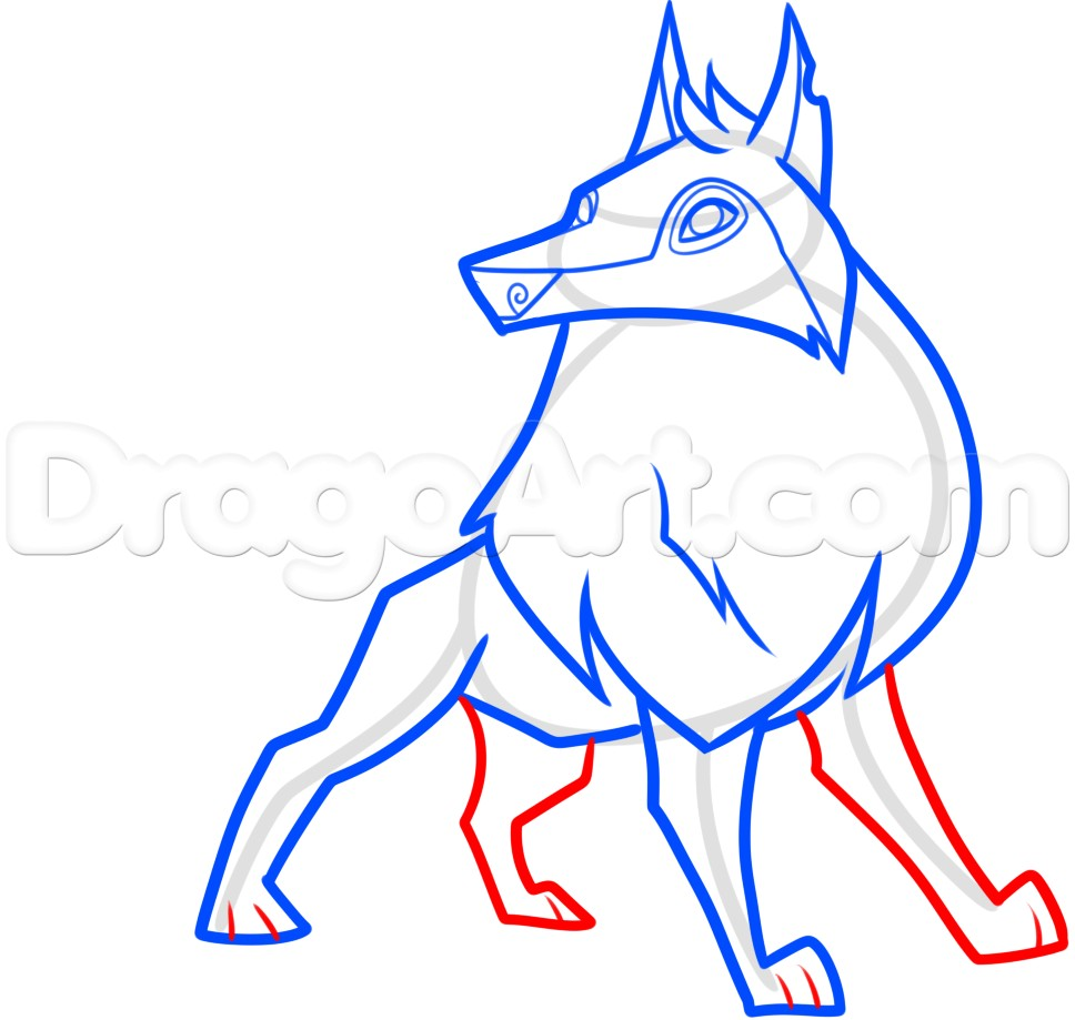 968x919 Coloring Pages Of Animal Jam Arctic Wolf New How To Draw An Animal
