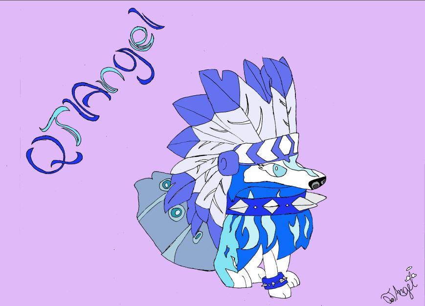 869x626 Drawing Of My Animal Jam Character By Qtangelaj