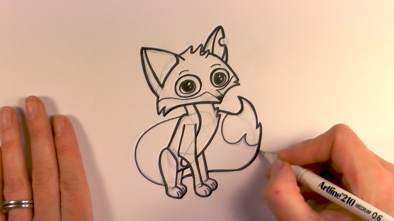 1280x720 How To Draw A Cartoon Fox From Animal Jam