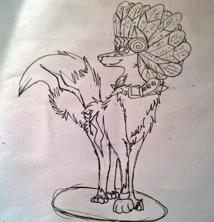 878x910 Animal Jam Art Contest Sketch 2 By Wolfsketchingmaster