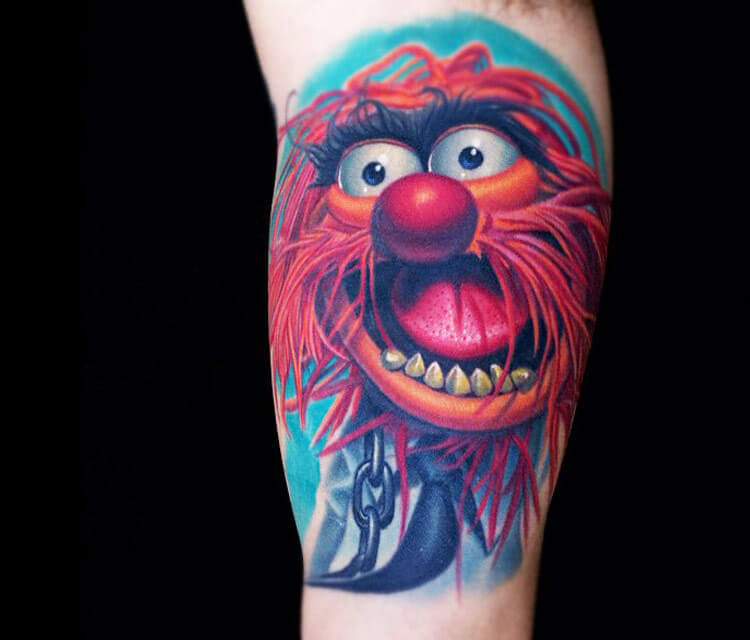 750x640 Animal Drummer Tattoo From Muppets By Nikko Hurtado No. 162