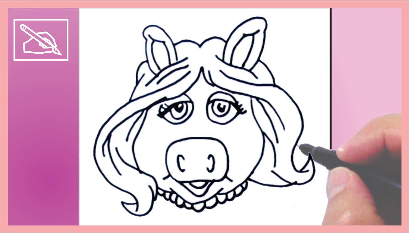 1304x745 Dibujar A Miss Piggy