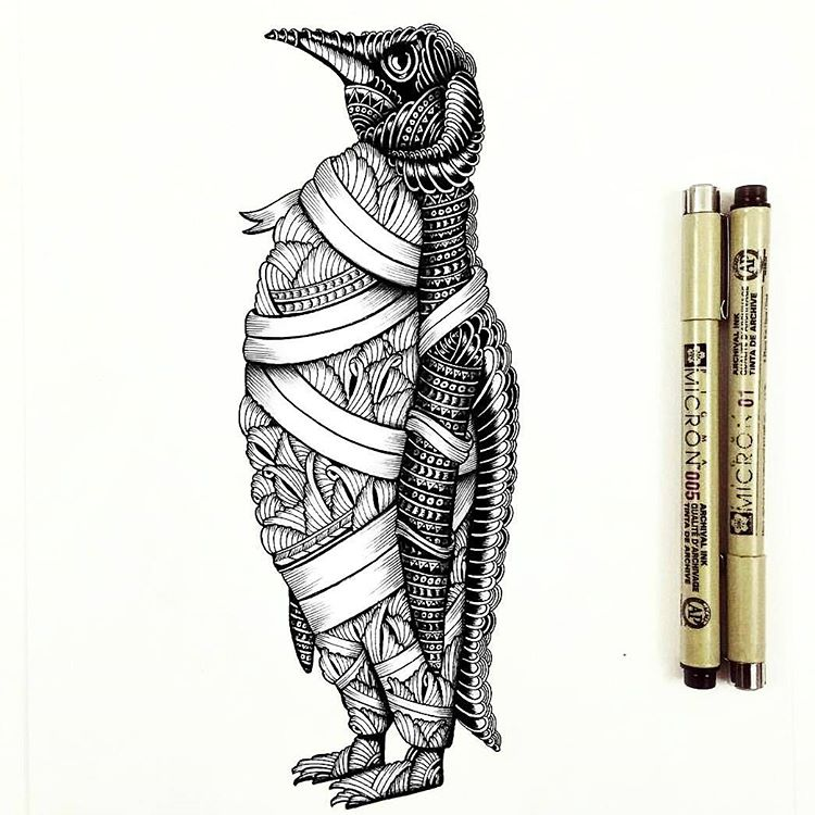 750x750 Awesome Penguin By @fayehallidayart Tag Your Best