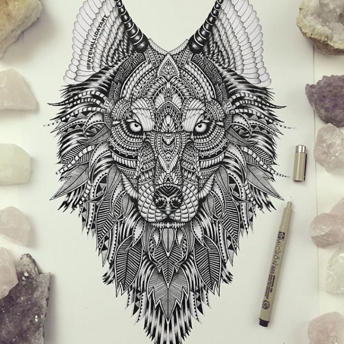 700x700 Wonderfully Unique Animal Drawings Consist Of Patterns Faye