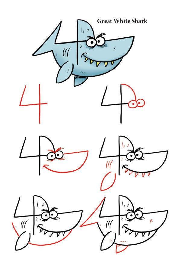 600x907 Drawing Sea Animals With Numbers Amp Letters Shop Harptoons