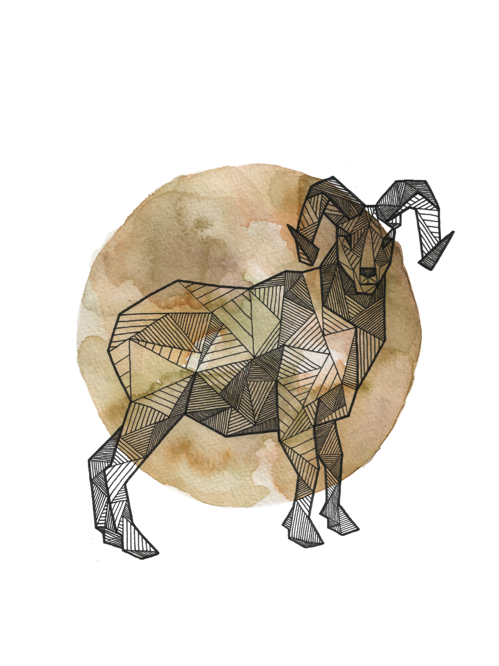 1000x1333 Full Moon Series Geometric Animals