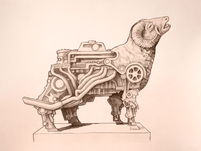 850x638 Mechanical Ram By Rubesart