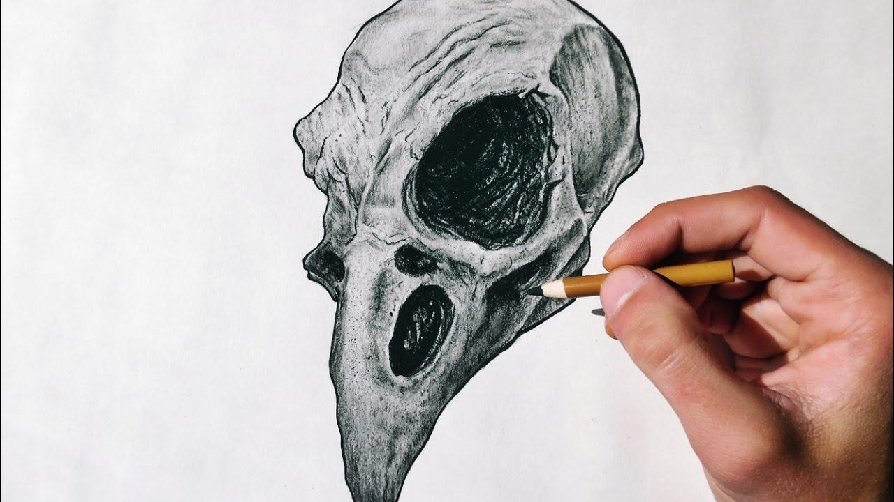1280x720 Animal Skull Drawing
