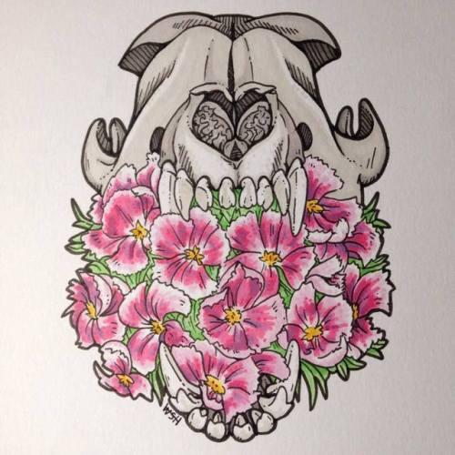 500x500 Animal Skull Drawing Tumblr