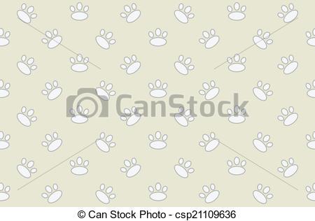 450x316 Animal Footprint Seamless Pattern. Vectors