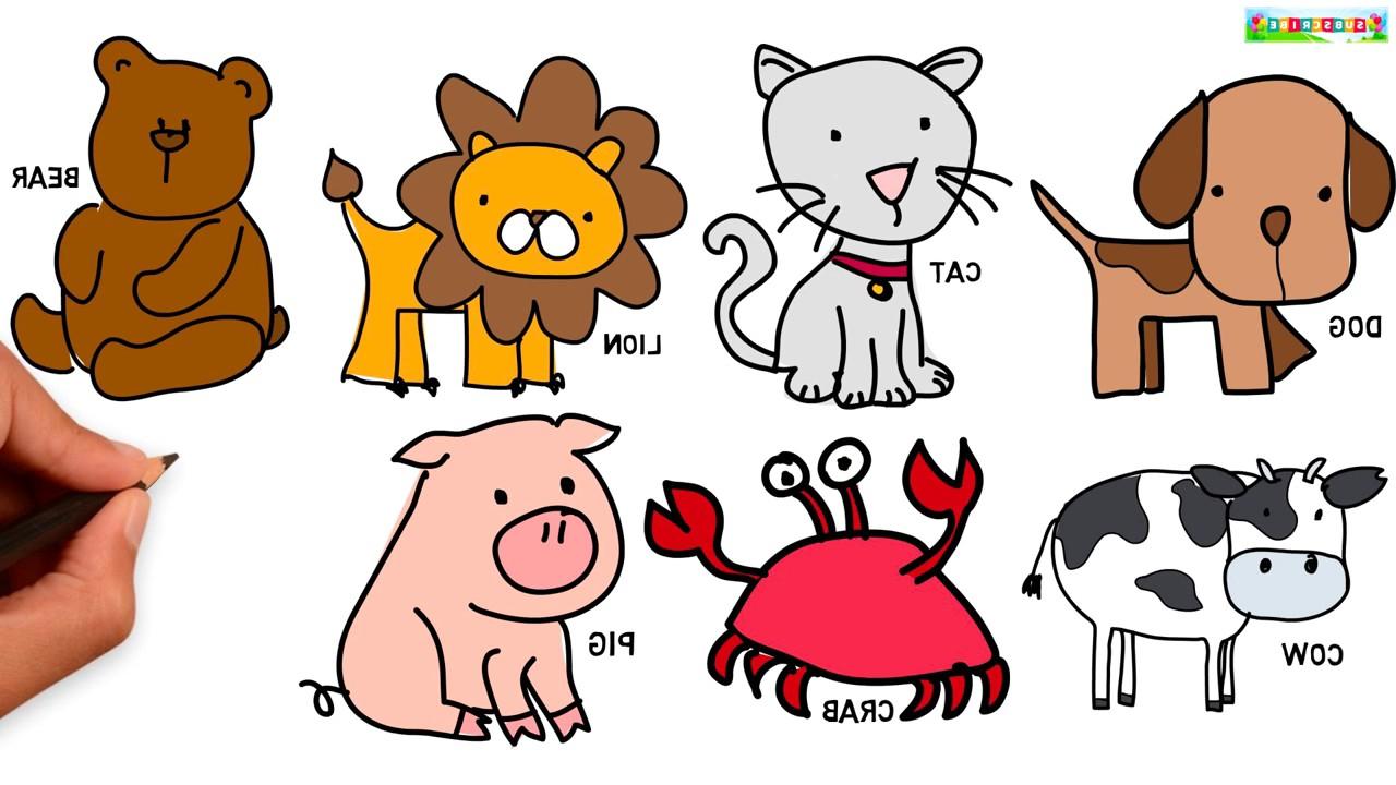 Animals Cartoon Drawing at GetDrawings | Free download