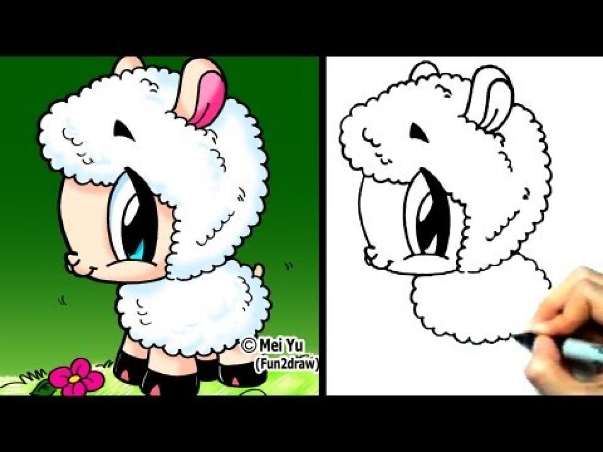 1190x893 Drawing Cute Cartoon Things How To Draw A Cute Cartoon Chibi