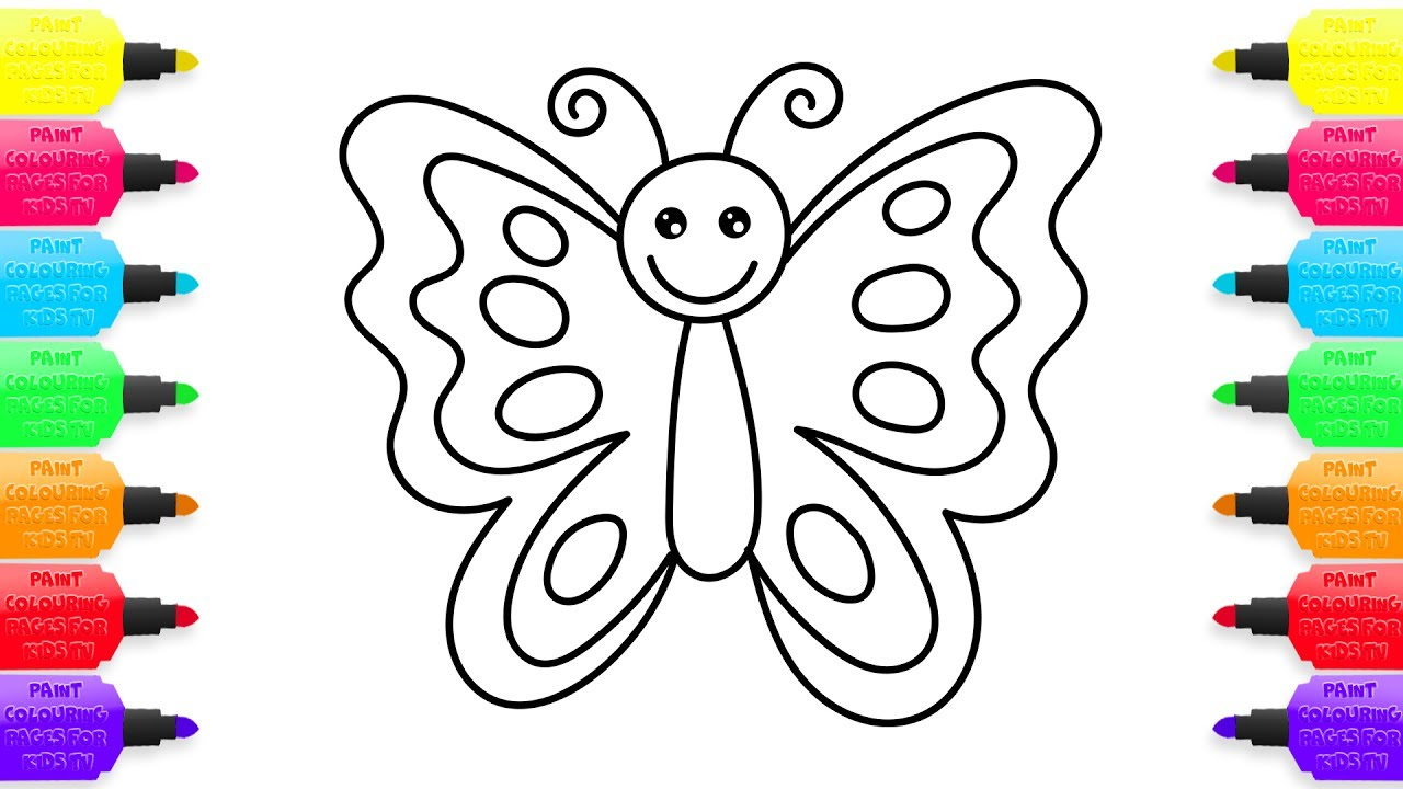 1280x720 How To Draw Butterfly Creativity For Kids With Colored Markers