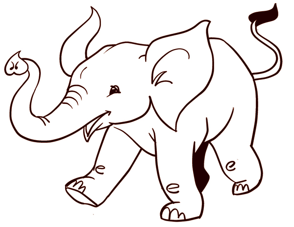 600x463 Coloring Pages Wonderful Easy To Draw Animals Drawing Animal