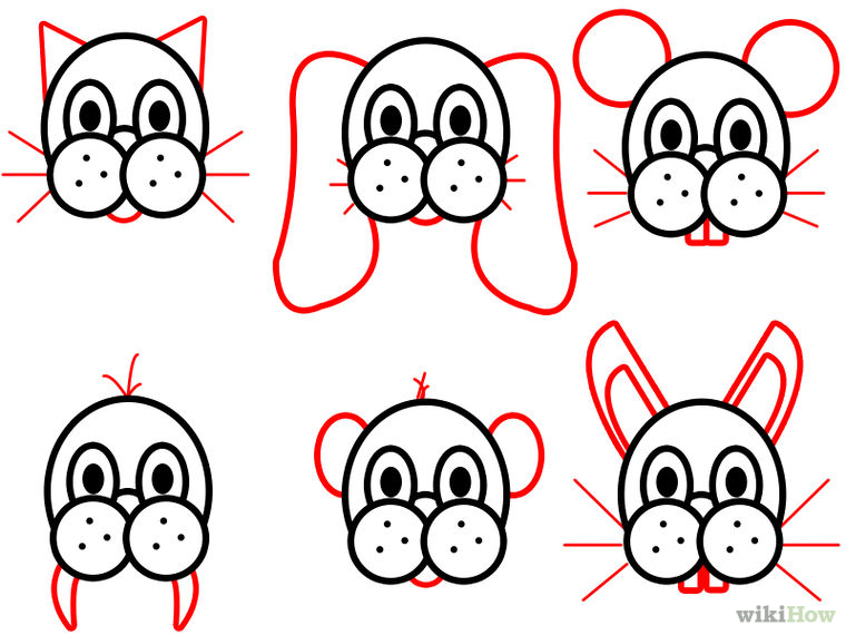 760x570 Draw Cartoon Animal Faces Step 4.jpg Drawing Cartoon