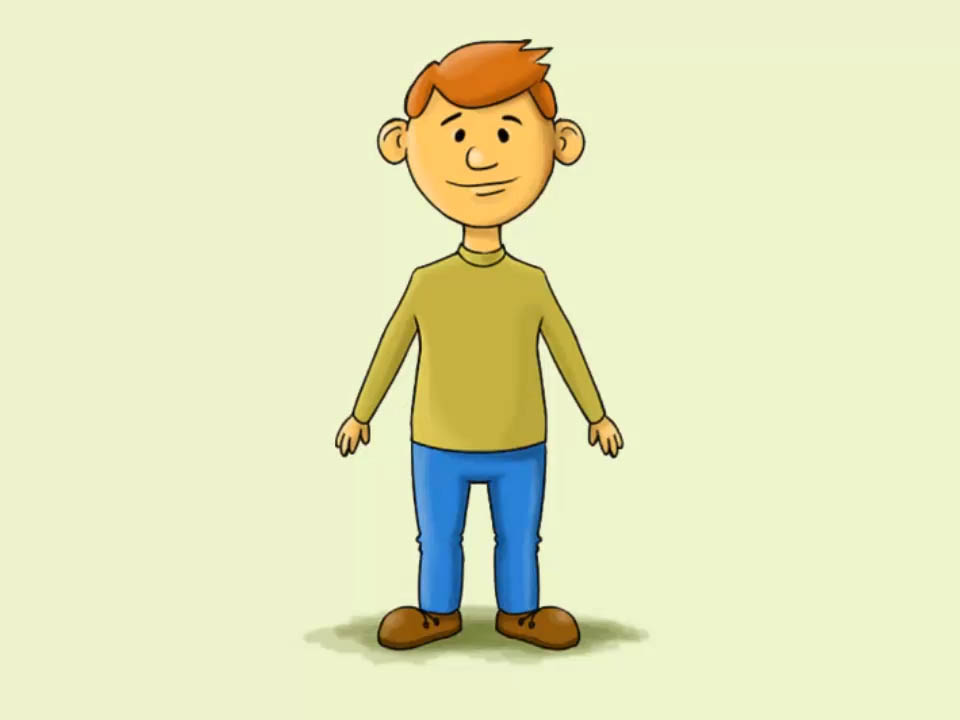960x720 How To Draw A Cartoon Man 15 Steps (With Pictures)