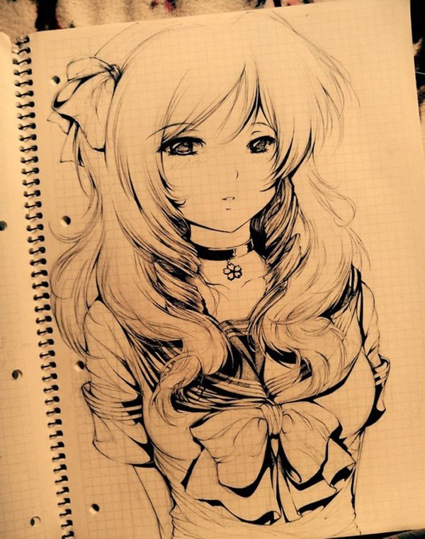600x761 beautiful anime drawing 6 by animekittty on deviantart