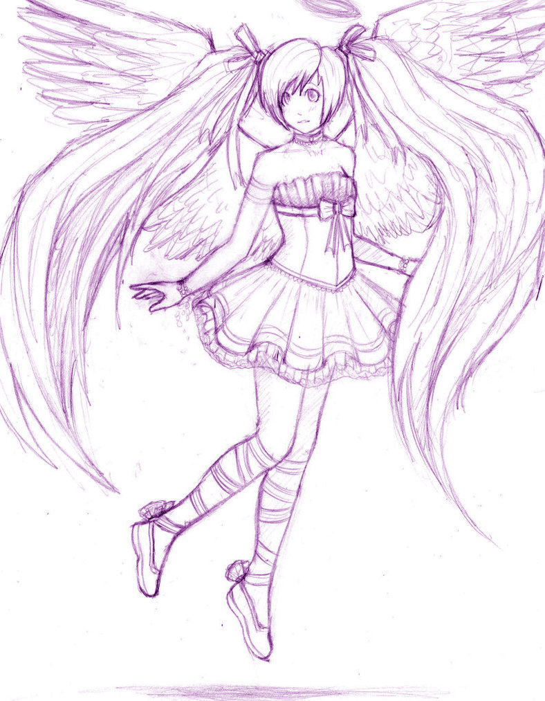 788x1013 Anime Angel Drawing Anime Angel Wipstalaxy