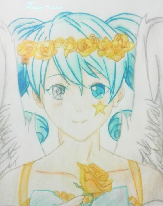 564x709 Anime Angel Drawing By Me~ By Tanja