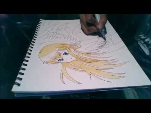 480x360 Speed Draw ~ Anime Angel