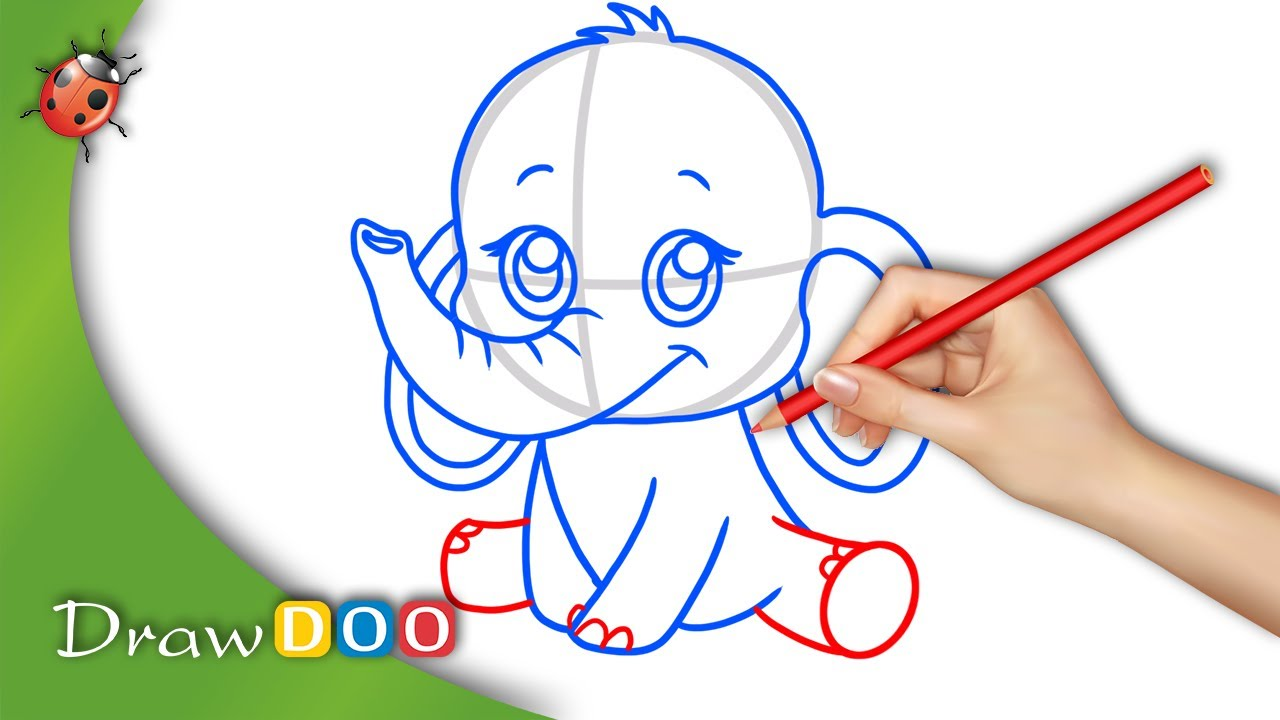 1280x720 Anime Baby Elephant from Anime Animals Drawing Tutorial
