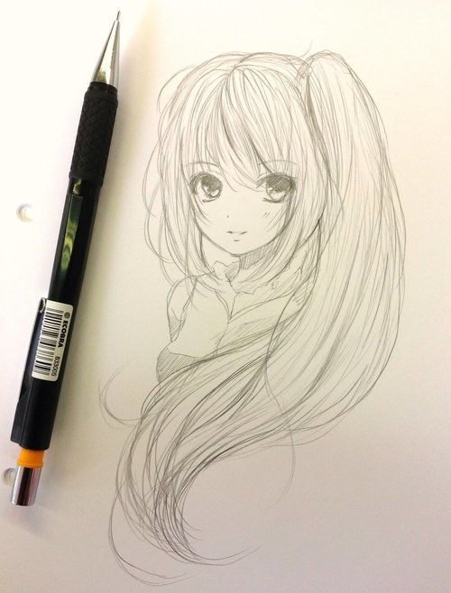 500x658 I love anime ! Almost obsessed, I try to practice drawing as much