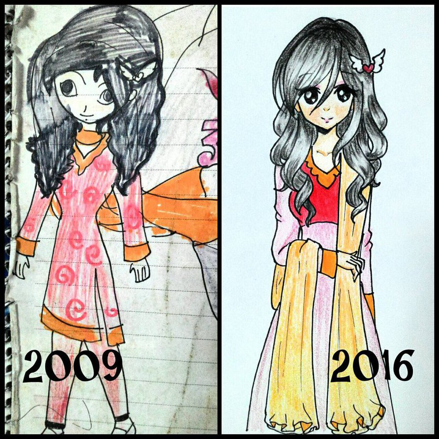 894x894 My Drawing Now And Then