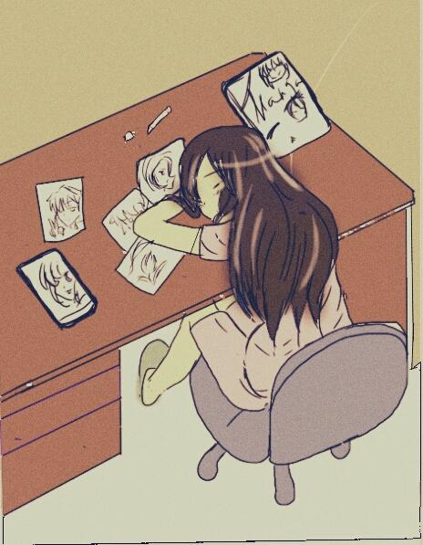464x597 Anime Girl, Drawing By Miniwa Manga Art