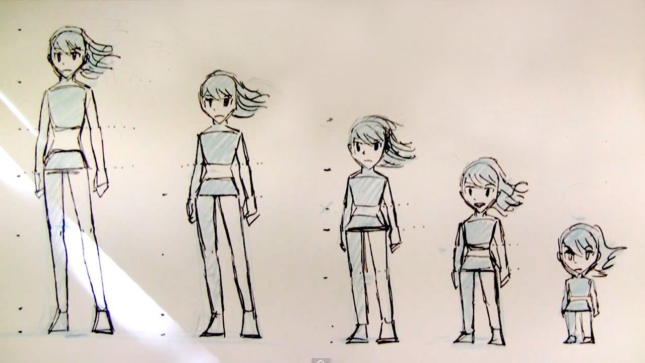 1280x720 How To Draw Female Body Proportions Teenager To Kid, Manga Style