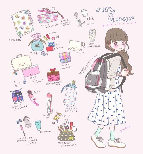 500x539 Kawaii, Bag, And Drawing Image Stuff18 Kawaii Bags