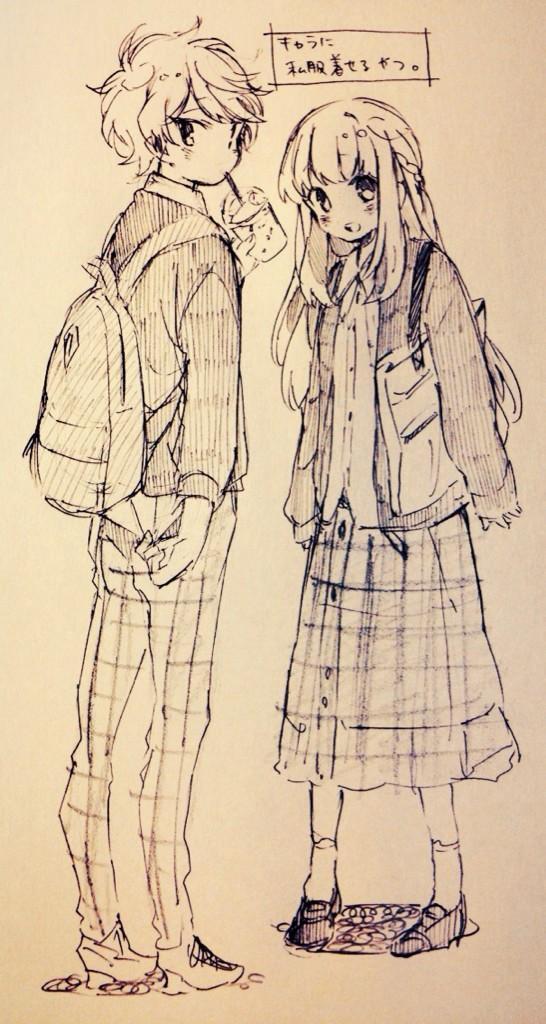 546x1024 Anime Art Anime Boy. Anime Girl. Fashion. Cute