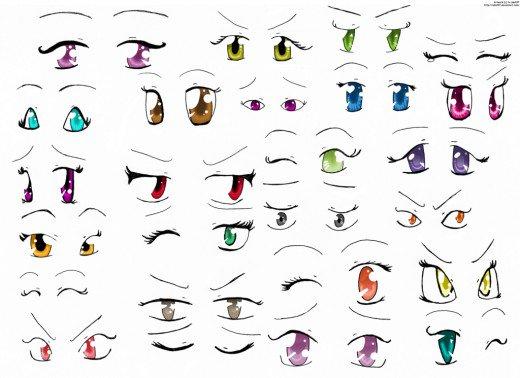 520x378 Basic Manga Drawing 1 Anime Eyes Feltmagnet