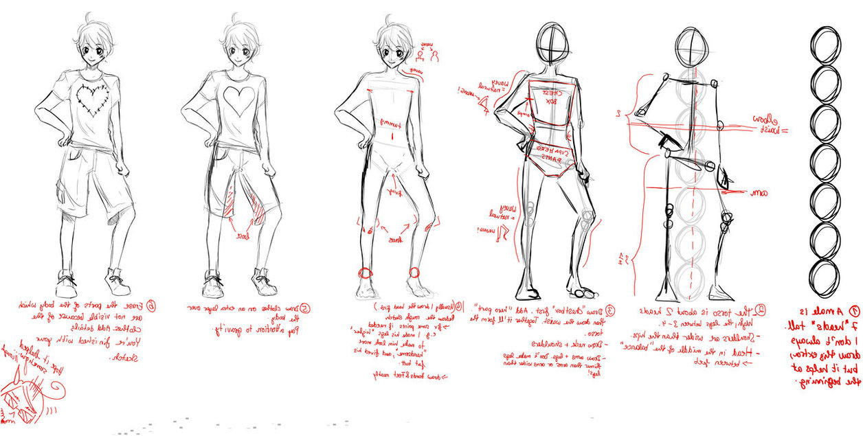 1256x635 Sketch Anime Digital Boy Full Body 85 Best Anime Drawing Templates