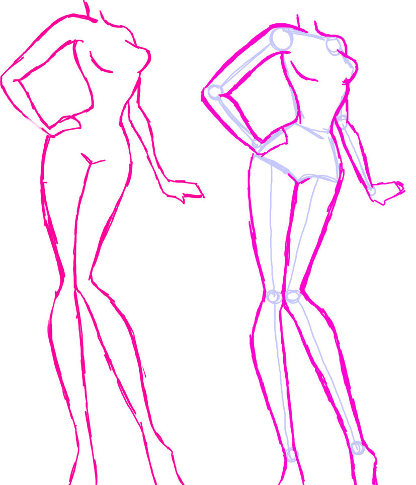 827x965 Female Anime Body Practice By Lilmsgigglepop