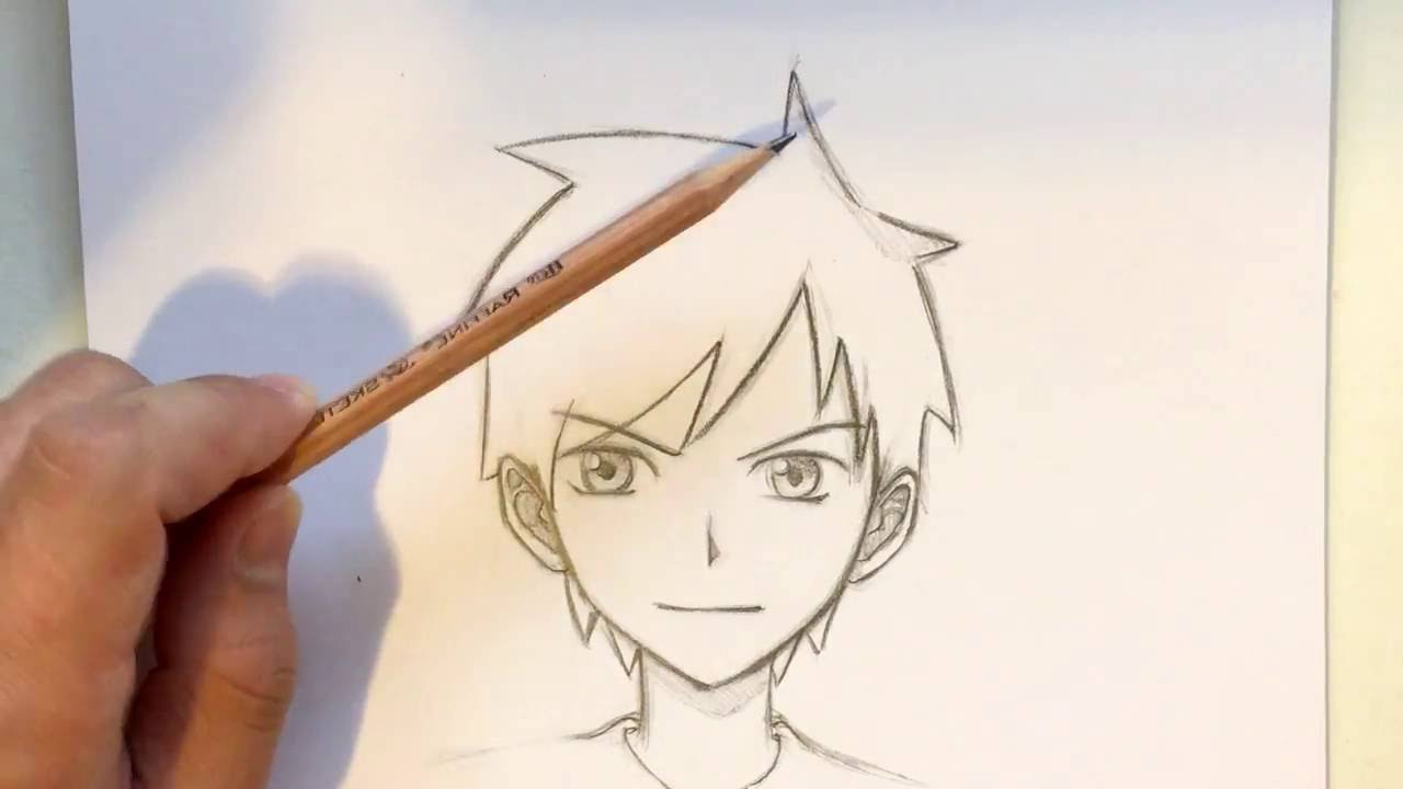 1280x720 Anime Boy Pictures Easy To Draw How To Draw Anime Boy Hair [Slow