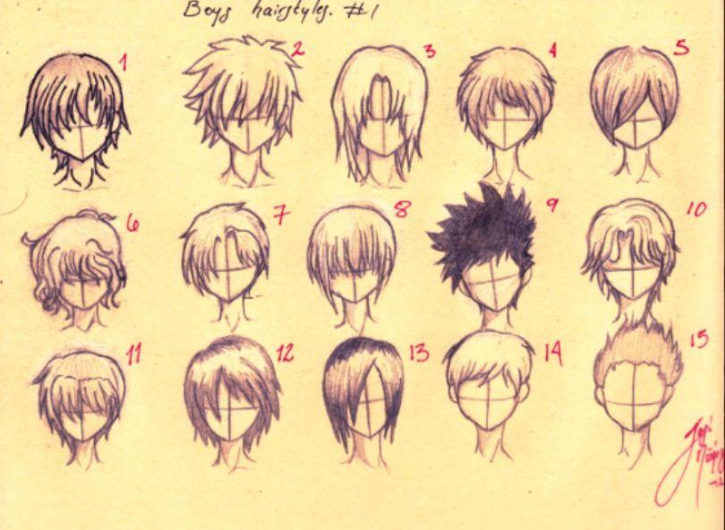 810x593 How To Draw Anime Boys Hair Sketch Guide Anime Boy