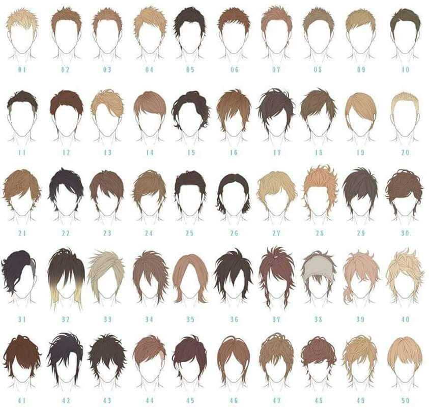 843x802 Male Hair Reference