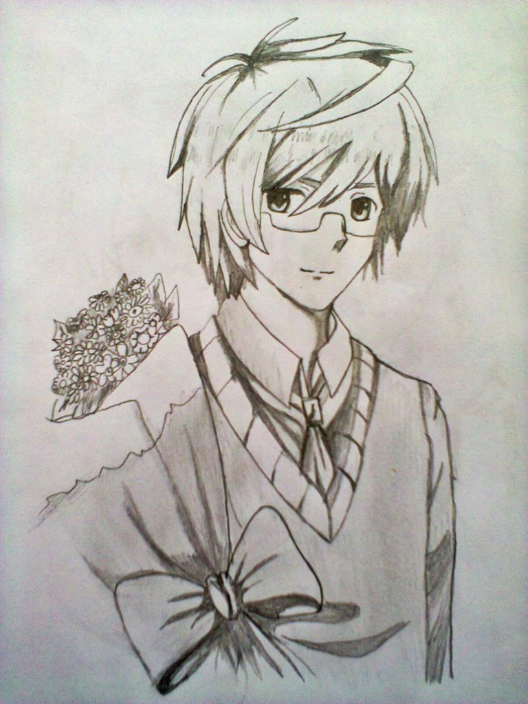 768x1024 Anime Hot Guy Pencil Drawing Anime Guys Drawings Hot Anime