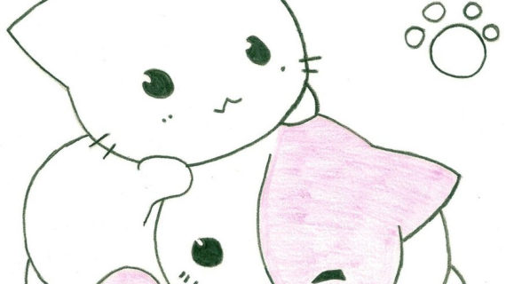 570x320 anime cat drawings cute anime cat drawing cats are soooo cute