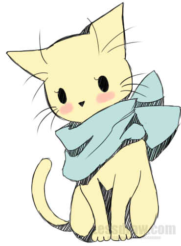 370x503 How To Draw Anime Cat Easy Lessdraw Drawing Ideas