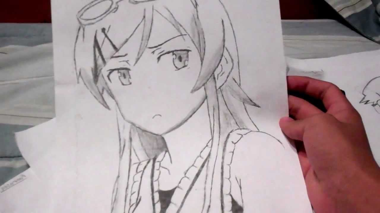 1280x720 Anime Character Drawing Face