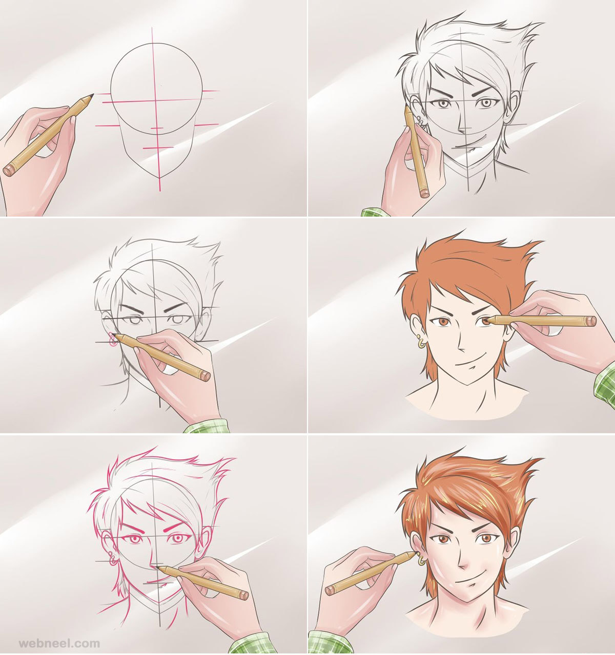 1200x1279 How To Draw Anime Tutorial With Beautiful Anime Character Drawings
