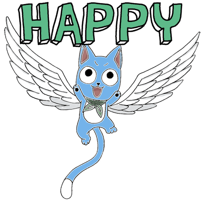 400x400 How To Draw Exceed Happy From Fairy Tail With Easy Anime Step By