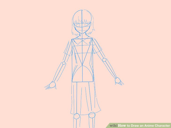 728x546 How To Draw An Anime Character (With Pictures)