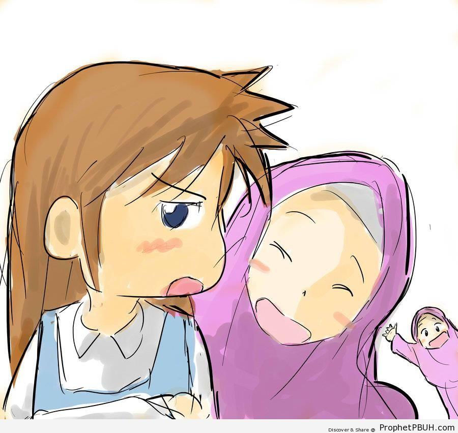 900x851 muslim kids anime drawing †drawings prophet pbuh peace be