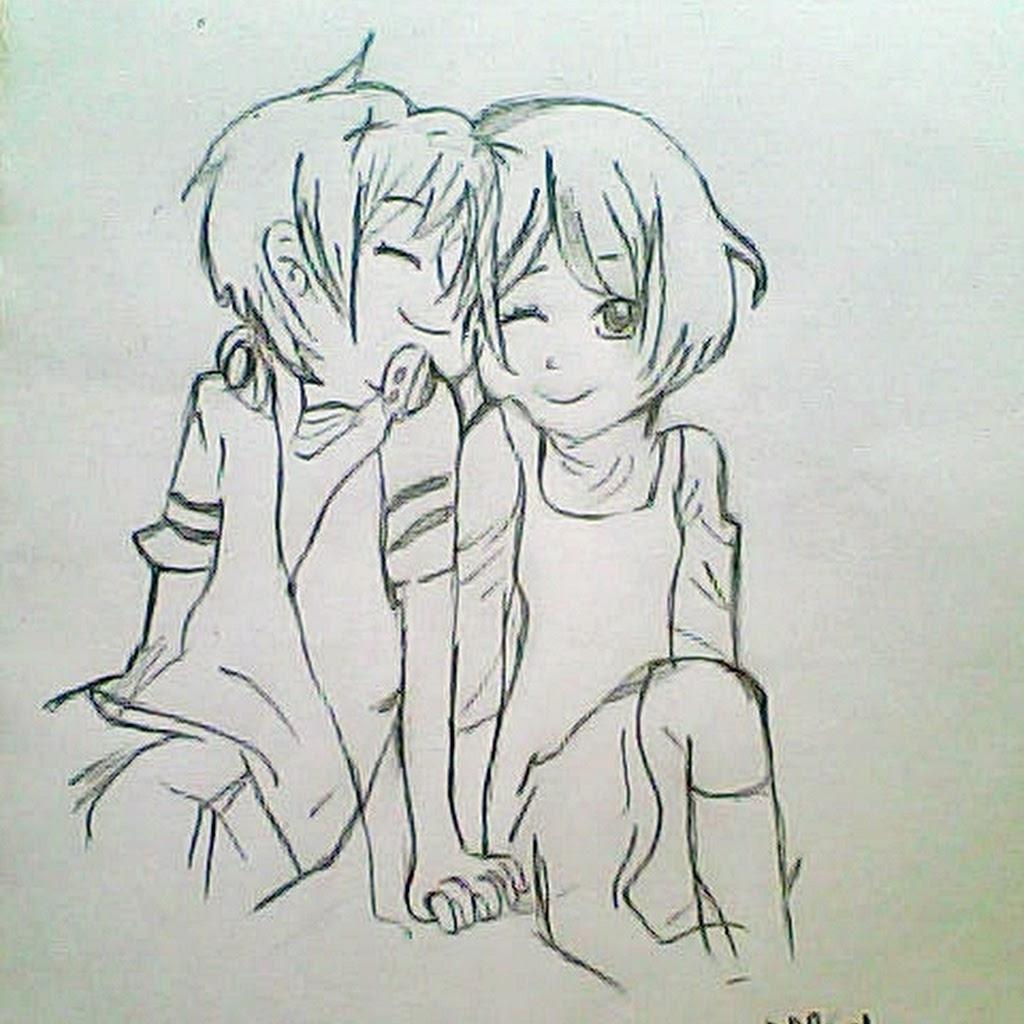 1024x1024 Anime Couple Hugging Drawing Cute Anime Drawing Couple Hugging