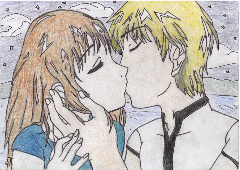 800x568 anime couple kissing by maikotsukiodoru on deviantart