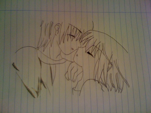 500x375 Anime Couples Images Small Kiss Drawing Hd Wallpaper