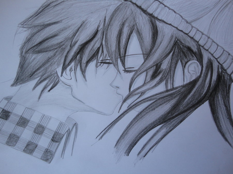 Anime Couple Kissing Drawing At Getdrawings Com Free For Personal